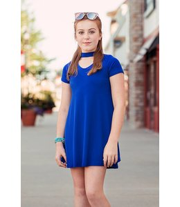 Choker A-Line Dress Royal