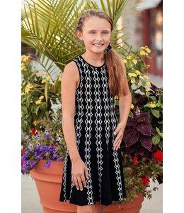Ella Moss Mia Sweater Dress Black/White