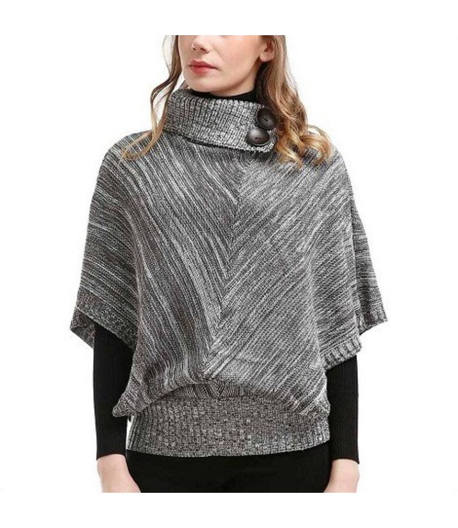 Mad Style Grey Button Collar Pullover