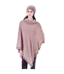 Mad Style Pink Studded Cowl Neck Poncho
