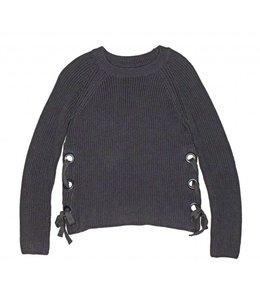 Tru Luv Tru Luv Soho Tie Up Sweater Grey