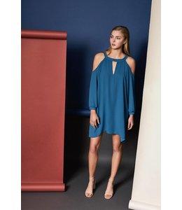 Orbit 7 Clothing L/S Cold Shoulder Mini Dress Gem
