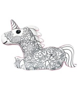 iScream Iscream Unicorn Color Me Pillow W/ Markers Multi