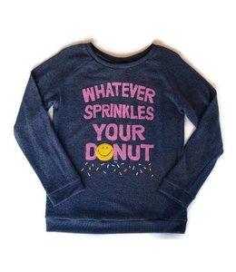 Junk Food Junk Food L/S Whatever Sprinkes Shirt Dark Indigo/Multi