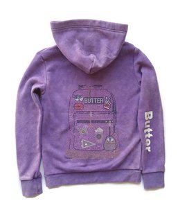 Butter L/S Hoodie W/ Sequin Graphic Grape