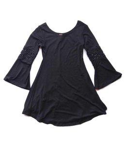 Bell Sleeve Zelda Dress Black