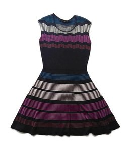 Ella Moss Melaine Intarsia Sweater Dress Black/Multi