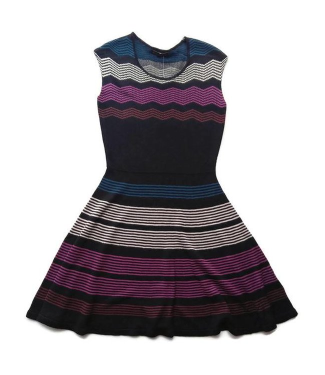 Ella Moss Melaine Intarsia Sweater Dress Black/Multi