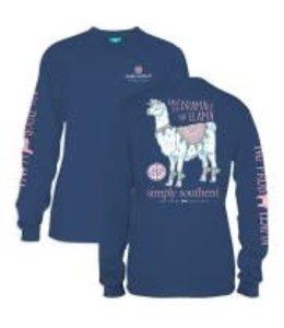 Simply Southern Simply Southern L/S Llama Shirt Moonrise