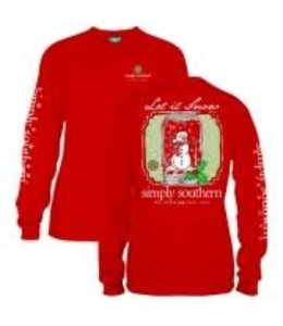 Simply Southern Simply Southern L/S Snow Shirt Red