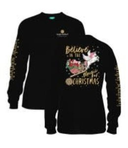 Simply Southern Simply Southern L/S Little Xmas Shirt Black