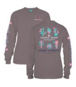 Simply Southern Simply Southern L/S Sharp Shirt Steel