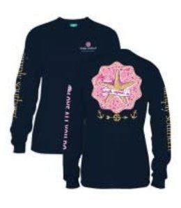 Simply Southern Simply Southern L/S Star Shirt Navy