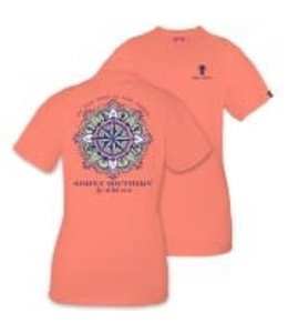 Simply Southern Simply Southern Compass Shirt Poppy