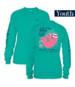 Simply Southern Simply Southern L/S Sloth Shirt Seaglass