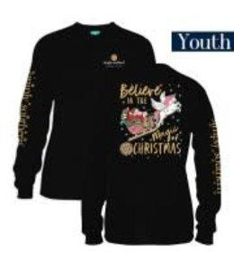 Simply Southern Simply Southern L/S Santa Shirt Black