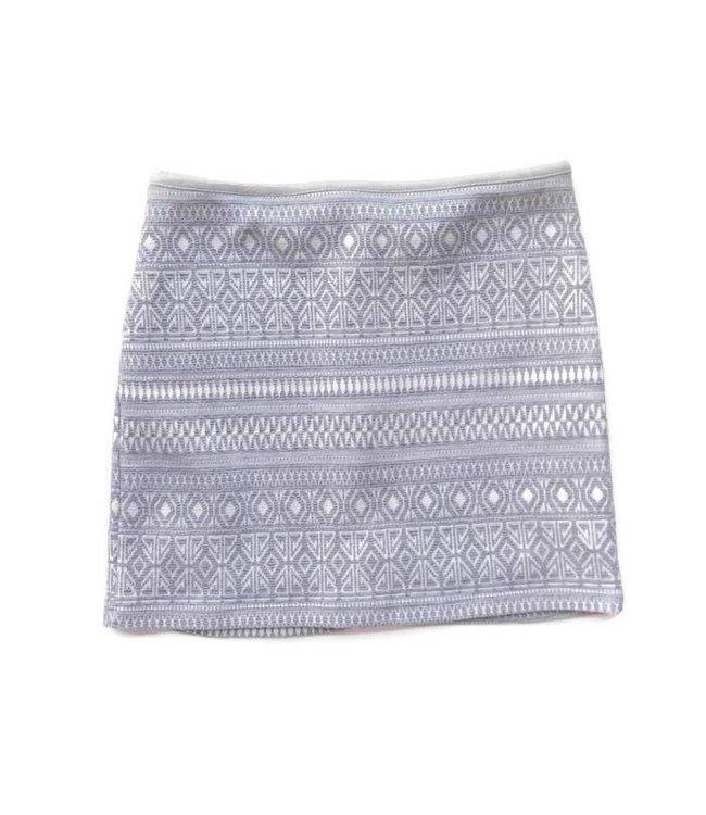 Elisa B Elisa B Textured Skirt Grey/White