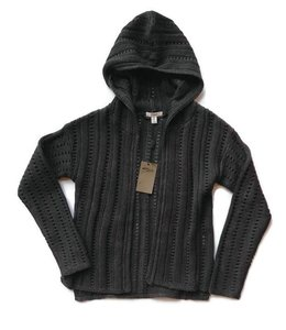 Silver Jeans Company L/S Sweater Cardigan W/ Hood Charcoal