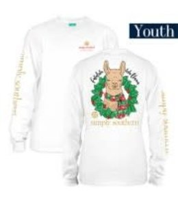 Simply Southern Simply Southern L/S XMAS Llama White
