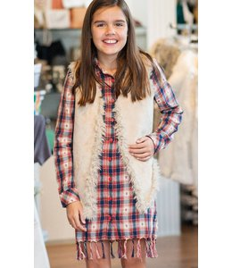 PPLA Tween PPLA India Mae Woven Dress Burgundy/Navy