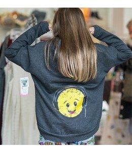 So Nikki So Nikki Burnout Emoji Sweatshirt