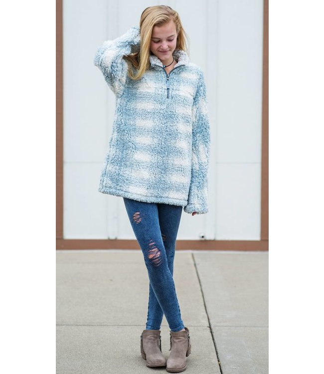 Dylan Solid Frosty Tipped Stadium Pullover