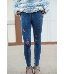 Malibu Sugar Malibu Sugar Distressed Ripped Leggings