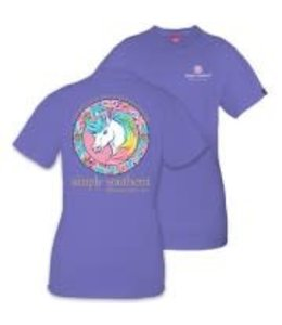 Simply Southern Simply Southern Unicorn Shirt Periwinkle