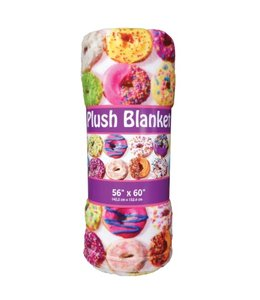 iScream Iscream Assorted Donuts Plush Blanket