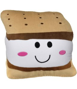 Iscream S'More Fleece Embroidered Pillow