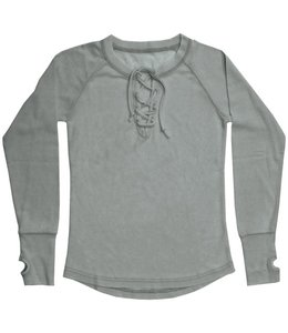 iScream Iscream L/S Thermal Lace-Up Shirt Grey