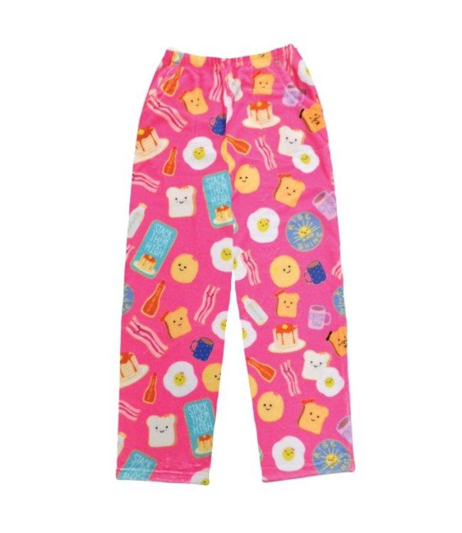 iScream Iscream Fuzzy Breakfast Club Pants Pink/Multi