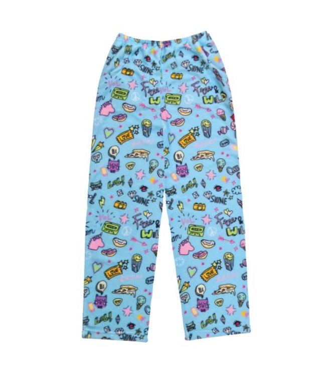 iScream Iscream Fuzzy Doodle Pant Blue/Multi