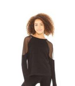 Zara Terez Tweens Terez L/S High Low W/Mesh Detail Black