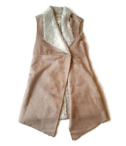 Dylan Frosty Tipped Snap Vest Cream/Ivory