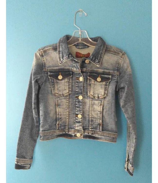 7 For All Mankind Denim Jacket Bleached Indigo