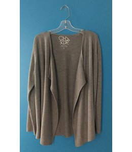 Chaser Tweens Chaser L/S Love Knit Draped Cardigan Grey