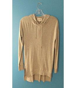 Olive & Oak Olive & Oak L/S Tunic Shirt W/ Hood Grey
