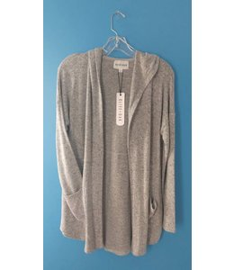 Olive & Oak Olive & Oak L/S Betty Cardigan Light Heather Grey