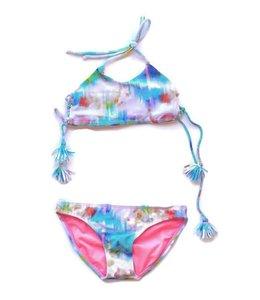 Peixoto Oria Tie Dye 2 Piece Swim Suit Sunrise