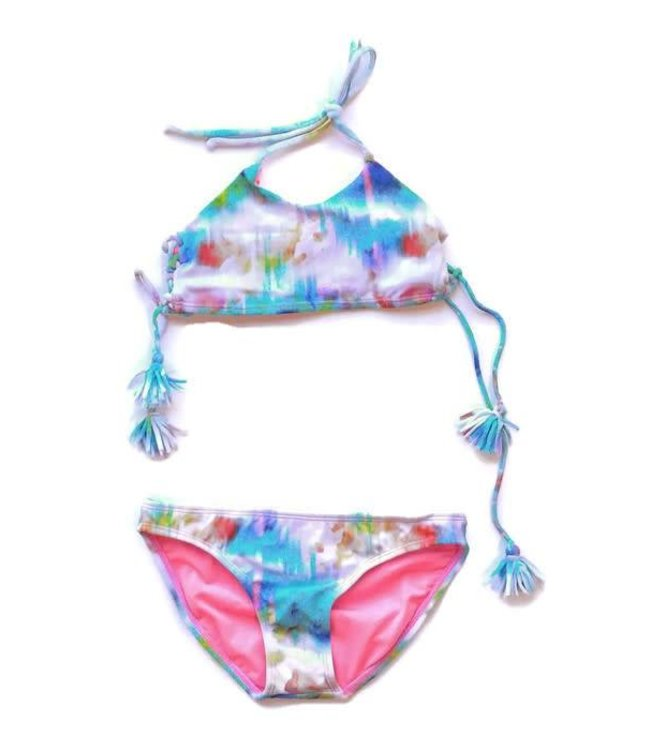 Oria Tie Dye 2 Piece Swim Suit Sunrise