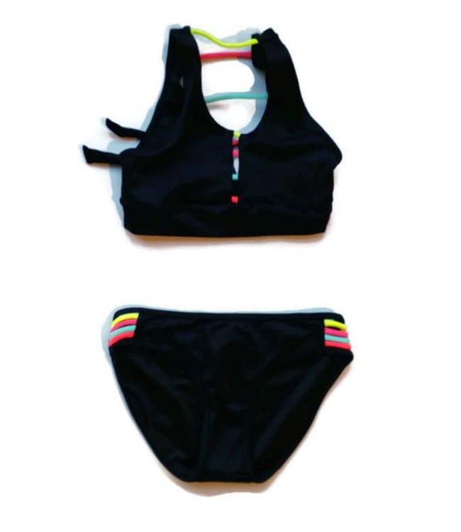 Peixoto Jade 2 Piece Swim Suit Black