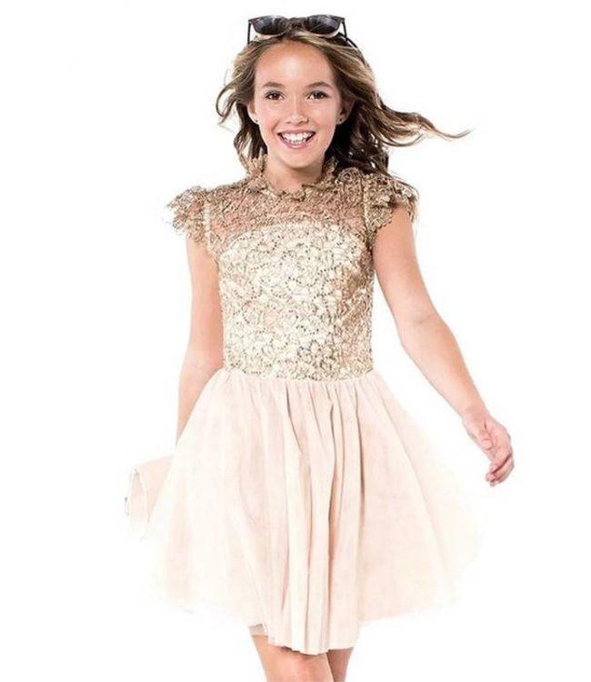 Miss Behave Miss Behave Detailed Dress Rocky Beige