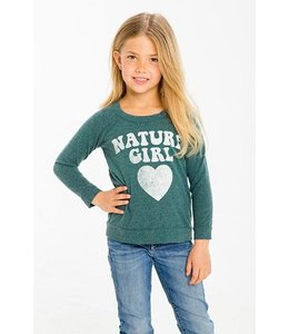Chaser Tween Chaser Love Knit Nature Girl Pullover Tent/Multi