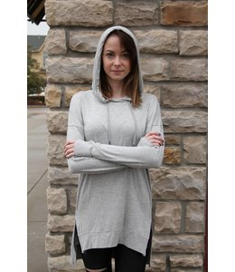 Olive & Oak L/S Tunic Shirt W/ Hood Grey