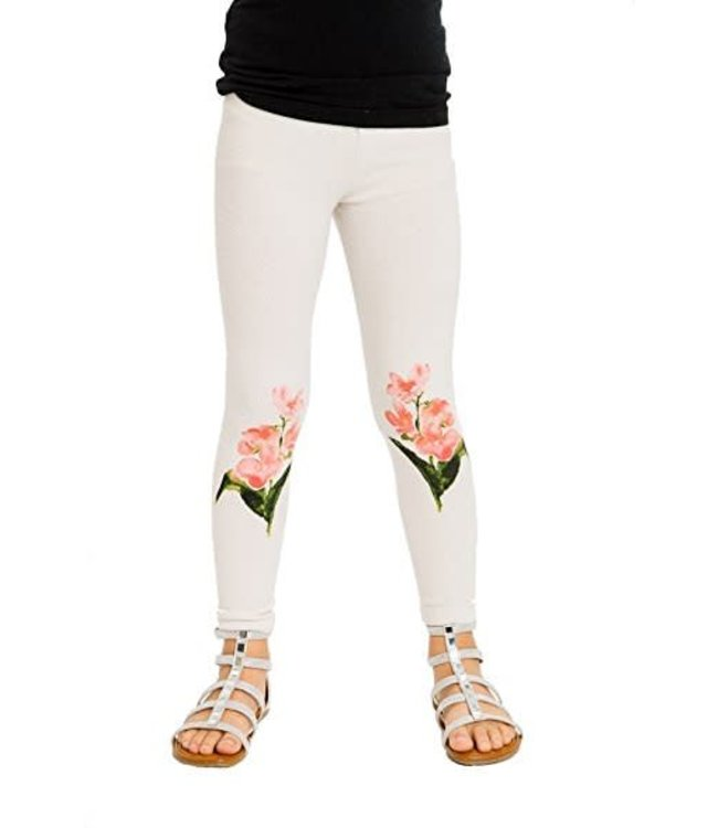 Chaser Tweens Chaser Love knit Wild & Free Legging Cream/Multi