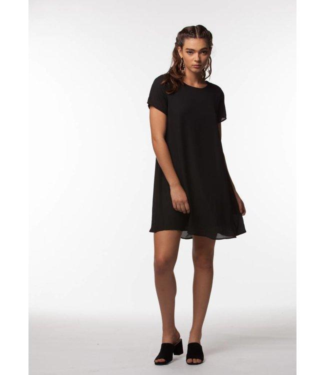 PPLA Brodee Woven Dress Black