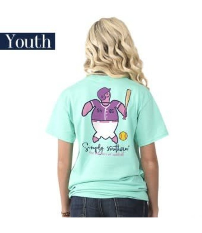Simply Southern Simply Southern Save Softball Shirt Aqua