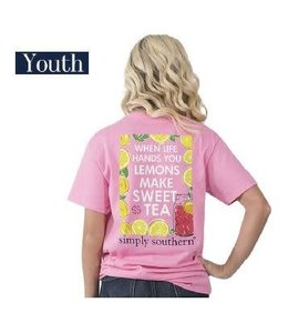 Simply Southern Simply Southern Preppy Sweet Tea Shirt Flamingo