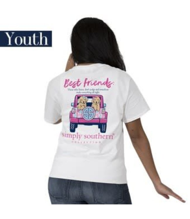 Simply Southern Simply Southern Preppy BFF Shirt White
